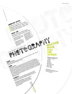 Photography Contest Poster Design by Sara Rudder, via Behance