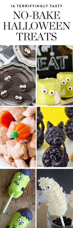 These goodies look seriously impressive, but they're actually super easy to whip up, making them perfect for your scary shindig, a fun family activity or even last-minute trick-or-treaters. Here, 16 yummy, no-bake treats to devour this Halloween.