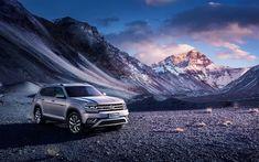 Download wallpapers 4k, Volkswagen Teramont, offroad, 2017 cars, SUVs, german cars, VW Teramont, Volkswagen