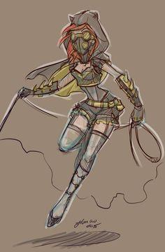 Steampunk Batgirl Re Sketch by NoFlutter on DeviantArt