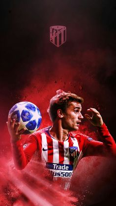 Antoine Griezmann Football And Basketball, Best Football Players, Soccer Players, Antoine Griezmann, Messi Fans, Football Wallpaper, Football Pictures, Neymar, Cristiano Ronaldo