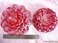 Cómo hacer una flor con cinta fina de satén ~ Mimundomanual