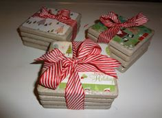 Erin Alana's Blog: A Month of Christmas Crafts: Project 3-Tile Coasters