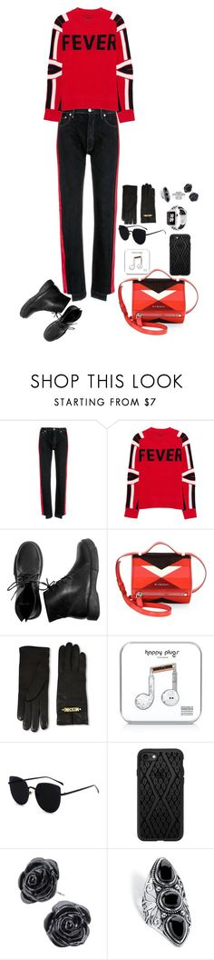 """""""pants with redlabelonit.andred fever sweater."""" by manonth on Polyvore featuring mode, Forte Couture, Zadig & Voltaire, Givenchy, Moschino, Happy Plugs, Casetify, Palm Beach Jewelry en Apple"""