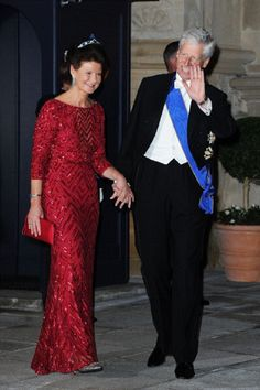 Oct 19 - Prince Nicolaus and Princess Margaretha of Liechtenstein attend the Gala dinner in Luxembourg