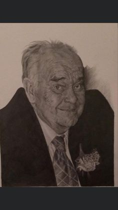 Pencil drawing of my late grandfather. Completed 2018. Drawing Commissions, Pencil Drawings, Marketing And Advertising, My Etsy Shop, Portrait, Handmade Gifts, Artist, Artwork, Vintage