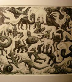 Oeuvre d'Escher. Crédits photo : oscarmg (Flickr)