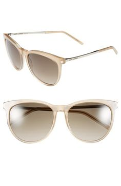 Saint Laurent 57mm Retro Sunglasses available at #Nordstrom