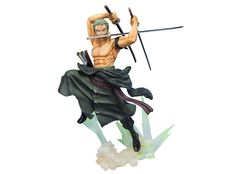 Collectible figure of Roronoa Zoro (Figuarts Ultra-Gari Battle Ver.) from One Piece anime series. High quality figure made of PVC material, 20 cm tall, by Bandai.