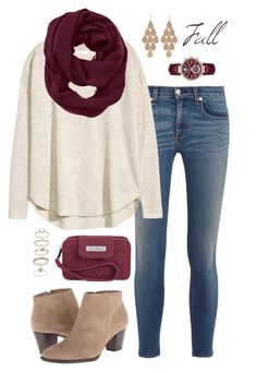 """Fall Fashion"" by caelia-nautia on Polyvore featuring rag & bone, H&M, Athleta, Vera Bradley, Irene Neuwirth, Michael Kors and Miss Selfridge"