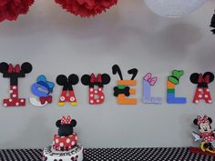 Mickey Mouse Clubhouse name letters