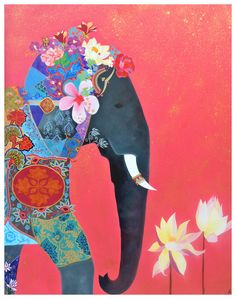 """Asia Hillion is of French and Sri Lankan descent. She is based in Galle where her art studio is as well as the family art shop """"Exotic Roots"""" are found."""