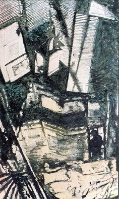 Vertigine 1988 oil on canvas cm. Fauvism, Art Techniques, Oil On Canvas, Tutorials, Paintings, Abstract, Modern, Shop Signs, Fauvism Art