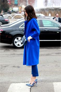 Loving the shoes, love the colour of the coat, love it all!