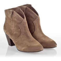 Ash Jalouse Boot Taupe Suede ($195)