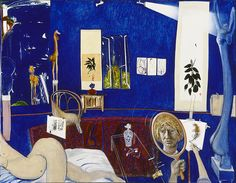 Self Portrait in the Studio by Brett Whiteley. Painted in 1976. 200.5 x 259 cm or 78.7 x 102 inches Located at the Art Gallery of NSW in Sydney, Australia.