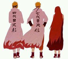 Minato, Naruto, Kushina #naruto