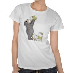 Funny Bear Eating Honey ShirtThe Gruffies® - Clothing Shirt #bears #honey #shirts #art #zazzle #animals #funny