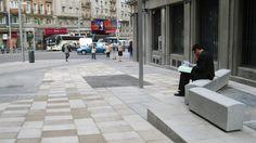 ALLbench by allende arquitectos 2011. Peatonalización de la calle de Flor Alta. Madrid. Manufacturing Cosentino
