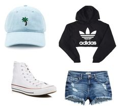 """""""Fall day in California"""" by chloed0912 on Polyvore featuring Forever 21, adidas and Converse"""