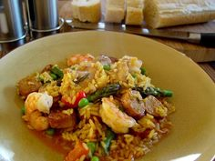 Portuguese Paella from Food.com: I love the blend of flavors in this dish. This is a hearty one dish meal. The secret spice is the Saffron. Saffron is expensive, but you must add it or the taste of authentic Paella is lost.