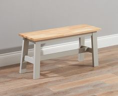 Buy the Chiltern Oak and Grey Bench at Oak Furniture Superstore
