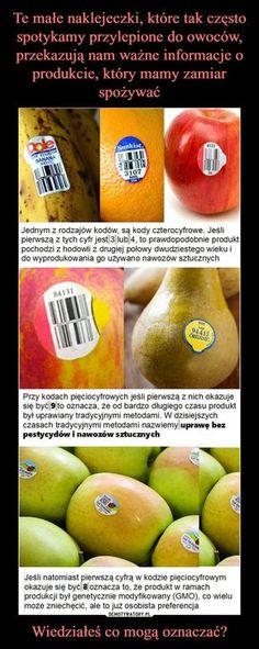 Te małe naklejeczki, które tak często spotykamy przylepione do owoców, przekazują nam ważne informacje o produkcie, który mamy zamiar spożywać Wiedziałeś co mogą oznaczać?