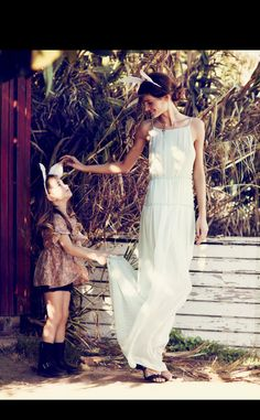 editorial moda madre hija vogue ninos: vestido ailanto