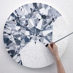 Painting a diamond