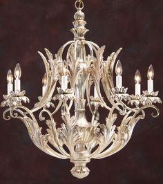 carved wood chandeliers   carved wood chandelier with lightly pickled silver leaf finish