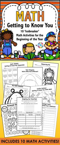 All About Me Math provides a great opportunity for students to use basic math concepts as they get to know one another at the beginning of the year. This All About Me packet comes with 10 fun and engaging math activities and games (plus a bonus math terms word search). This packet is perfect for starting off the year with 2nd-4th graders. $