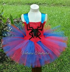 Check out this item in my Etsy shop https://www.etsy.com/listing/255251618/spiderman-inspired-tutu-dress