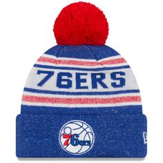 Men s New Era Royal Philadelphia 76ers Toasty Cover Cuffed Knit Hat with  Pom - Sixers Store bdb4b6be321
