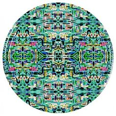 This Jungle Fever tray in turquoise is 45cm in diameter, but also available in other sizes.