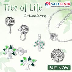 Wholesale silver jewelry: Tree of life collections Tree of life jewelry collections from safasilver.com represents a link between the earth and the heaven that connects all kind of forms of creation. The symbol gives you positivity, hope, and greater life in mother nature. #silver #pendant #jewelry #fashion #handmade #charm #rings #necklace #bracelet #treeoflife #tree #nature #wholesale #treeoflifependant #treeoflifejewelry #spirituality Tree Of Life Jewelry, Tree Of Life Pendant, Wholesale Silver Jewelry, Great Life, Mother Nature, Jewelry Collection, Jewelry Design, Charm Rings, Pendant Jewelry