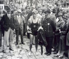 Buster Crabbe at the 1928 Summer Olympics at which he received Bronze in the men's 1500 metre freestyle swimming.