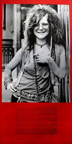 Joplin In Concert (1972) Image from center section of double album
