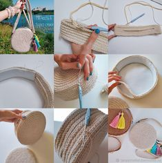master class on knitting, bag with your hands .- мастер класс по вязанию, сумка своими рукам… master class on knitting, bag do it yourself, beach bag - Bag Patterns To Sew, Sewing Patterns, Crochet Patterns, Sewing Ideas, Crochet Handbags, Crochet Purses, Crochet Bags, Hemp Yarn, Crochet Circles