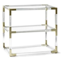 Jacques Lucite Table by Jonathan Adler features clear acrylic accented with polished brass. Simplistic design offers modern style to any room. New Furniture, Table Furniture, Luxury Furniture, Acrylic Furniture, Outdoor Furniture, Rustic Furniture, Antique Furniture, Bedroom Furniture, Furniture Design