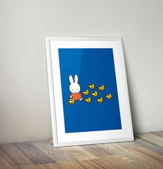 Miffy Walking with Ducks Framed Mini Poster