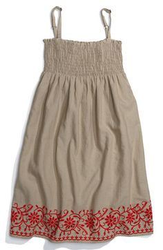 Peek Embroidered Dress (Toddler, Little Girls & Big Girls) available at Nordstrom