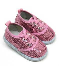 Another great find on #zulily! Pink Sequin Sneaker by Tender Toes #zulilyfinds