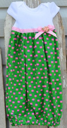 Baby Dress  Sweet Apple  Upcycle  Size Newborn NB by stewiecakes
