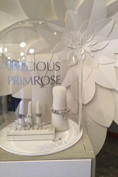 PANDORA Precious Primrose pieces on display at The Jewellery Room, Copenhagen Fashion Week 2015. | www.goldcasters.com