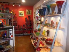 Snake Oil Glassworks in Skaneateles, making hand-blown glass since 1998. Each piece takes about 45 minutes to make. Stop by on the first Friday every month for a demonstration.