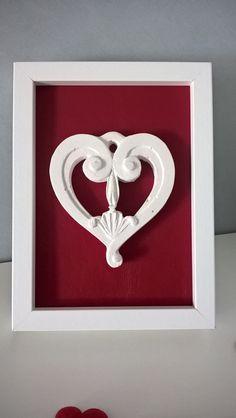 Quadretto decorativo decorazione cuore Imperfect Love di Manoico su Etsy