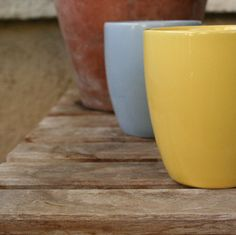 pastel blue and yellow Corelle cups $10