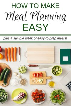 Not sure where to start when it comes to planning a full week of meals? Here's your step-by-step guide to making meal prep EASY!