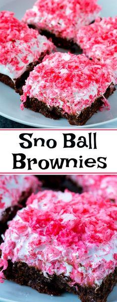 Sno Ball Brownies copycat #coconut #brownies #copycat