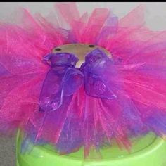 Purple and Pink shimmer tutu. Will post matching wand and hair bows